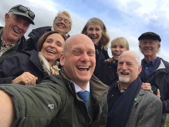 Invergordon, UK: That's Gavin in the front. He's a big guy with the longest arms for a selfie.
