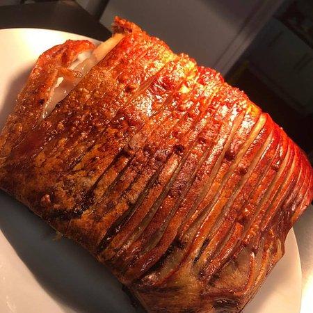Westbury, UK: Preview of the Sunday roast pork