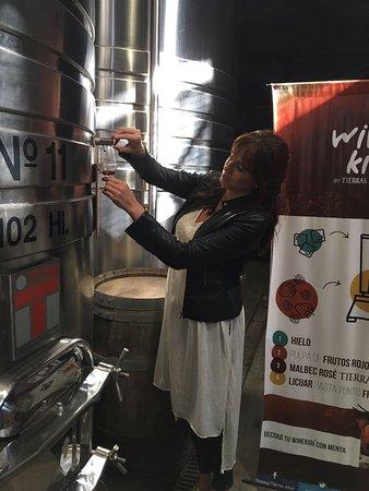 Lujan de Cuyo, Argentyna: Sirviéndome vino
