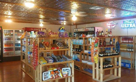 Boerne, TX: The Office & Store, selling snacks, beer, wine & soft drinks.