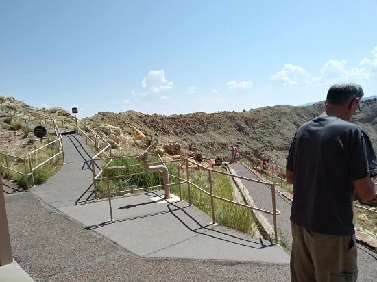 Winslow, AZ: One of the many ramps up and down to view the levels