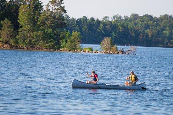 Deerwood, MN: Canoe trip on Bay Lake