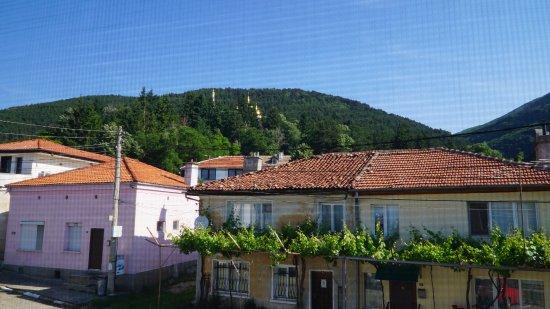 Hotel Opalchenets: Вид из окна - на окнах сетка от мошек