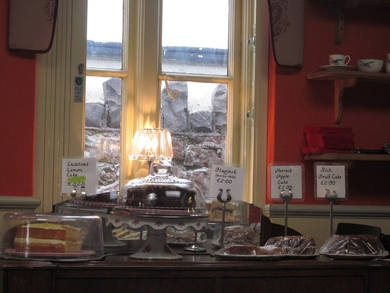 Apple Tree Tea Rooms : Tempting display of some of the cakes available.