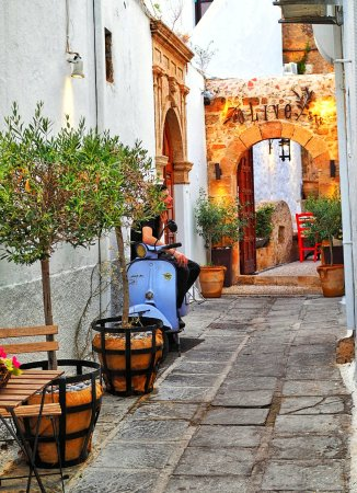 Lindos : Blick auf Olive Street