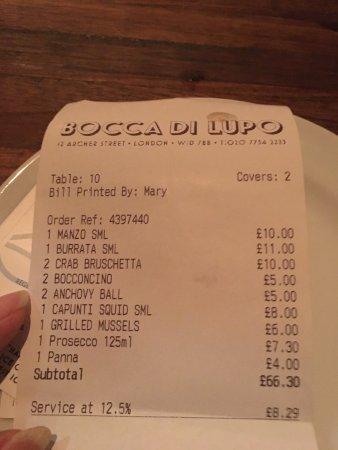 Photo of Italian Restaurant Bocca di Lupo at 12 Archer Street, London W1D 7BB, United Kingdom