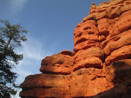 Panguitch, UT: Bright red rocks and beautiful scenery