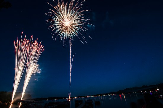 Ruttger's Bay Lake Lodge: Fourth of July weekend fireworks