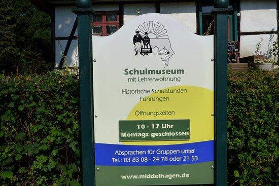 Middelhagen, Tyskland: Hinweisschild