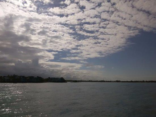 Trou d'eau Douce: view of the coastline