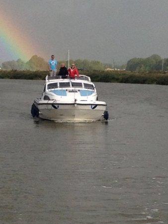 وروكسهام, UK: Boating on the Broads