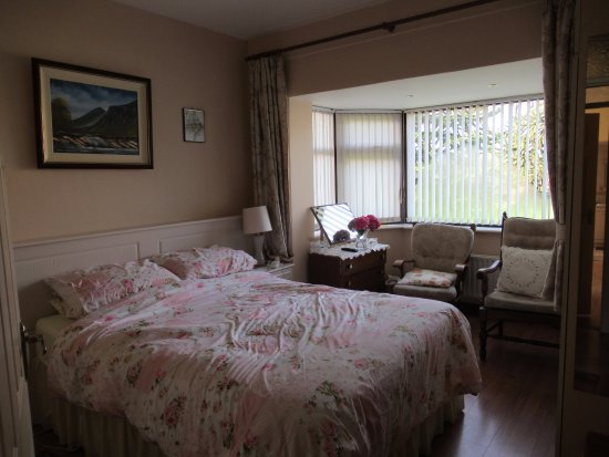 Listowel, Ireland: This photo was taken just as we were leaving after we had sleptso bed not made to Nora's standar