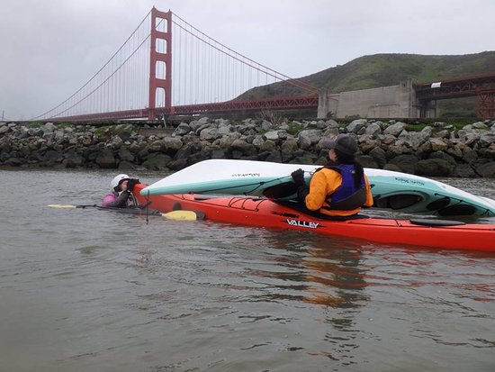 Auburn, CA: Practicing maneuvers under the shadow of the Golden Gate Bridge.