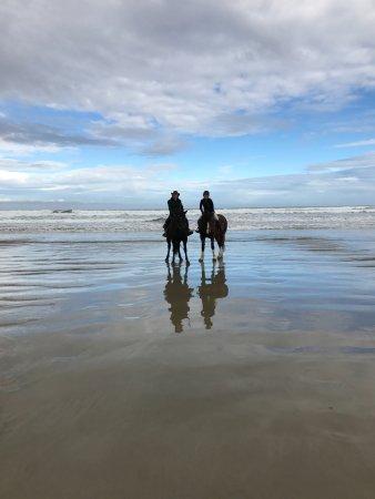 Invercargill, Nueva Zelanda: On the beach
