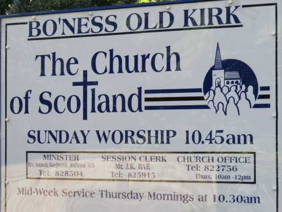 Bo'ness Old Kirk: sign