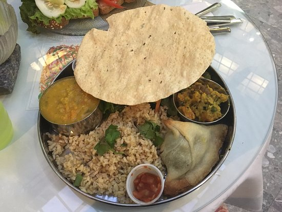 Peace Garden: Vegan Thali Plate