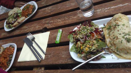 Bookstop Vegetarian Cafe.: tasty food