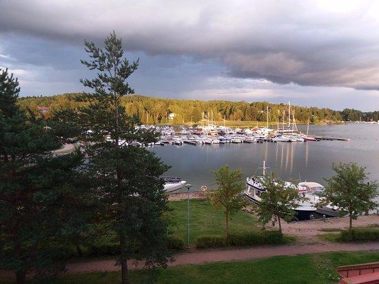Parainen, Finlandia: widok z 2 pietra... za chwile bedzie lalo