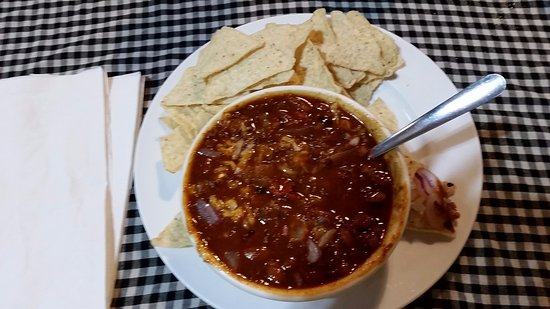 Cooke City, MT: The only thing that made the chili XL was the chips and cheese. The bowl was the same size