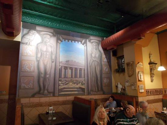 Lawrence, KS: Back wall of restaurant