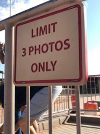 Four Corners Monument: There is a limit on photos (not enforced, but I think people would be pretty mad at you if you b