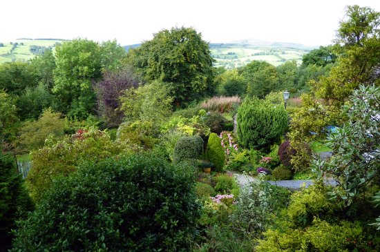 Bryn Tirion Cottage: View (including gardens) from Top Arbour