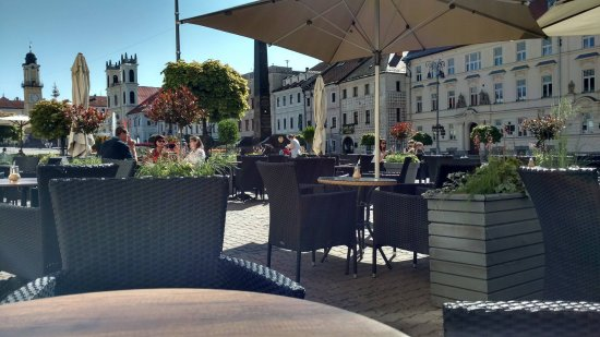 Leroy Bar & Café: Terrace at the main square
