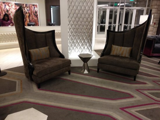 The Guest House At Graceland Loby Sitting Area Chairs Designed After Collars On