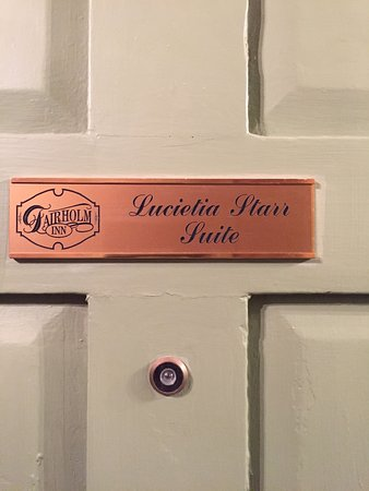 Fairholm National Historic Inn: The name of our suite