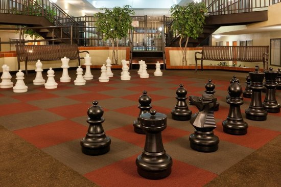 Brookline, MA: Guests can play life-size chess and putt indoors.