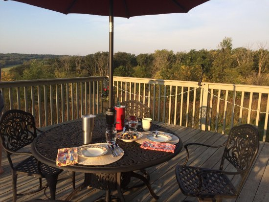 Verona, WI: Dining on the back deck