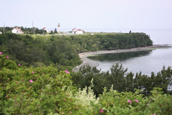 Riviere-Madeleine, Canada: The view from the east.