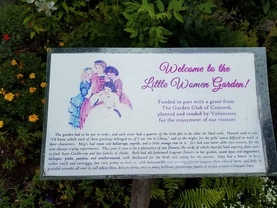 Concord, MA: Sign within the garden.