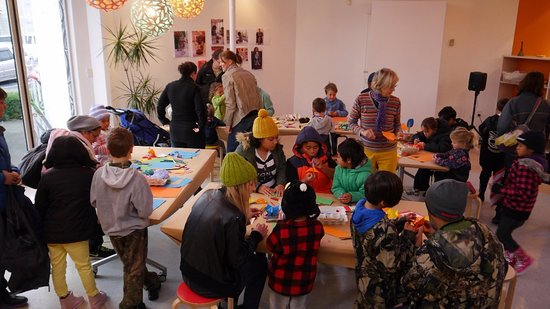Hastings City Art Gallery: One of the gallery's busy school holiday art programmes.