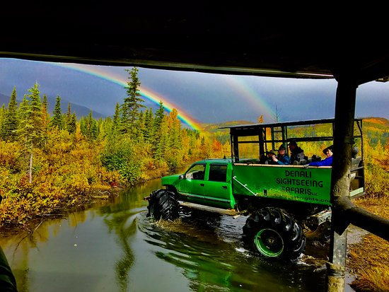 Cantwell, AK: A double rainbow!