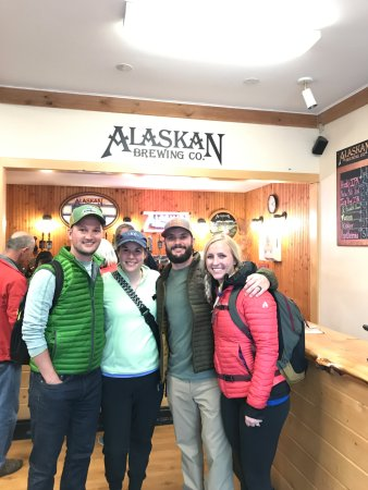 Alaskan Brewery and Bottling Company: at the brewery bar
