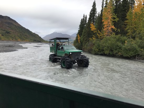 Cantwell, AK: Playing in the river!