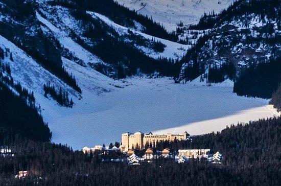 Paysage d'hiver lac Louise au départ...