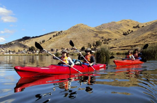 Kayaking on Lake Titicaca to Uros and Taquile Floating Islands