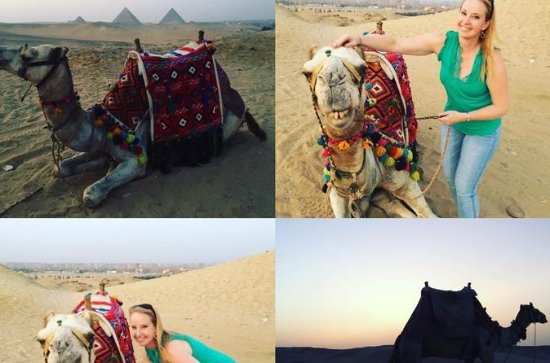 sunset or sunrise camel ride