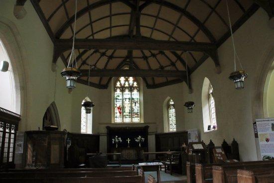Aberystwyth, UK: Interieur van de kleine kerk waar de Lady's Walk begint en eindigt