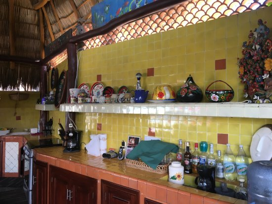 La Cruz de Huanacaxtle, Meksyk: Kitchen area where breakfast is prepared