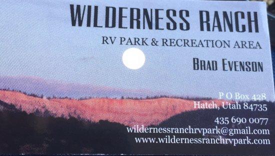 Hatch, UT: Wilderness Ranch