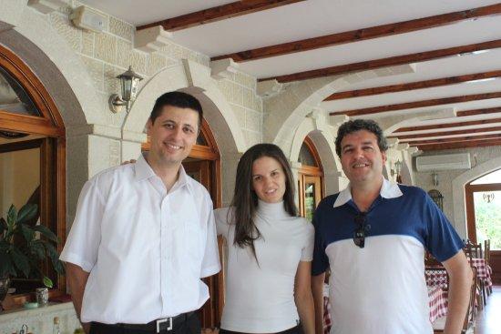 Prcanj, Montenegro: Com os simpáticos proprietários