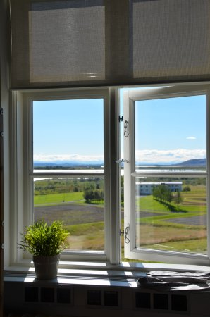 Laugarvatn, Island: View from our table