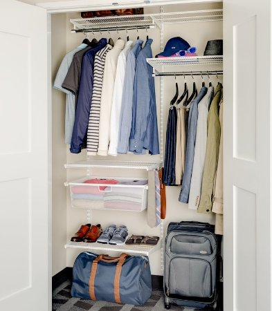 Mesquite, TX: elfa® closet from The Container Store®