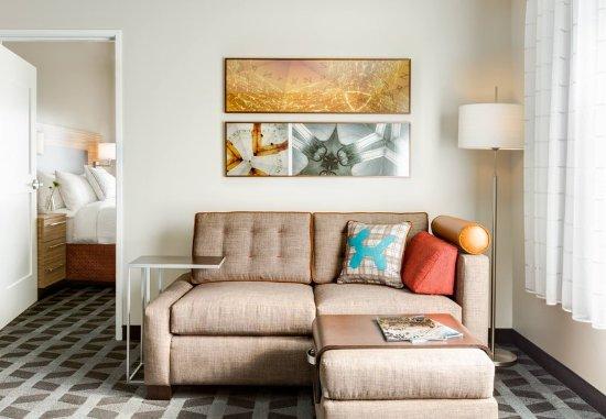 Mesquite, TX: One-Bedroom Suite Living Room