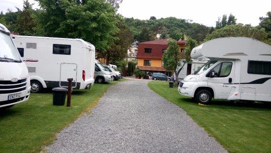 Autocamp Trojska: Parking area for the campervan