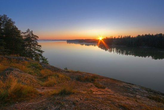 Jarvenpaa, Finland: Sunrise at Lake Tuusula