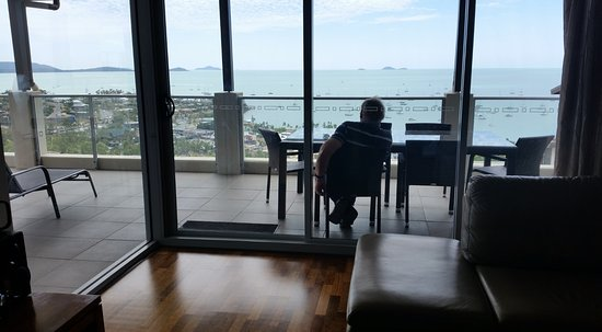 Whitsunday Reflections: This is the view from the patio, living area and the bedrooms.